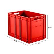 Doos met EURO afmetingen EF 6420, 83,8 l, rood
