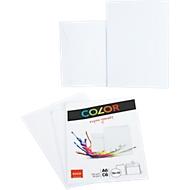 Doppelkarten ELCO Color, blanko, A6, 200 g/m², inkl. passenden Umschlägen C6, 90 g/m², Set mit jeweils 10 Stück, weiß
