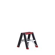 Doppelstufenstehleiter Professional Topline, Aluminium, 2x2 Stufen, schwarz