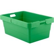 Draaistapelbak KS 18, 90 liter, L 775 x B 535 x H 315 mm, groen