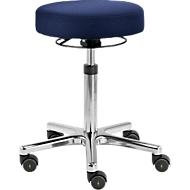 Drehhocker TEC basic IS 1999_ESD, ESD-leitfähig, höhenverstellbar, ergonom. Polster-Sitz, dunkelblau
