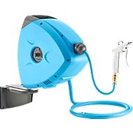 Druckluft-Schlauchaufroller, mobil, automatisch, mit 1 Wandhalterung