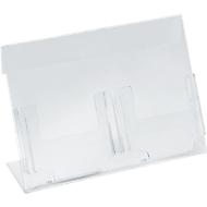 Dubbele folderstandaard, voor 1/3 A4-formaat (100 x 210 mm)