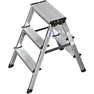 Dubbele trapladder van aluminium, 2 x 3 treden