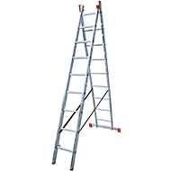 DUBILO multifunctionele ladder, 2 x 9 sporten