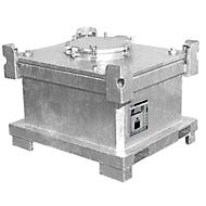 Duo-Container BAUER DC 450, Stahlblech, feuerverzinkt, abschließbar, B 1200 x T 1000 x H 860 mm