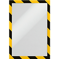 DURABLE Cadre d'information DURAFRAME® SECURITY A4, jaune/noir, 2 pièces