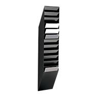 DURABLE folderhouder Flexiboxx 12, 12 vakken, A4, hoog, zwart