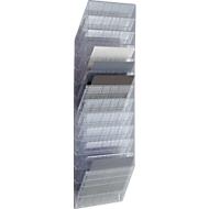 DURABLE folderhouder Flexiboxx 12, 12 vakken, A4, liggend, transparant