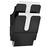 DURABLE folderhouder Flexiplus 2, 2 vakken, A4, hoog, zwart