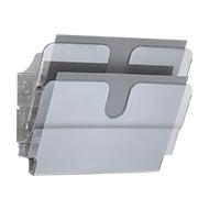 DURABLE folderhouder Flexiplus, 2 vakken, A4, liggend, transparant