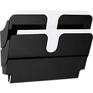 DURABLE folderhouder Flexiplus, 2 vakken, A4, liggend, zwart