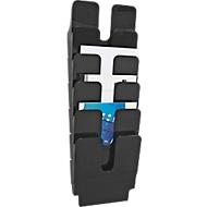 DURABLE folderhouder Flexiplus 6, 6 vakken, A4, hoog, zwart