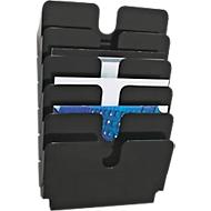 DURABLE folderhouder Flexiplus, 6 vakken, A4, liggend, zwart