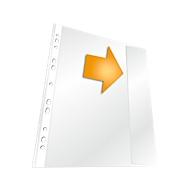DURABLE geperforeerde hoesjes, DIN A4, PP, generfd, transparant, 5 stuks