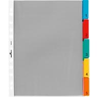 DURABLE Intercalaires  PP, pour pochettes perforées, avec onglets de couleurs, A4, 5 divisions