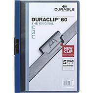DURABLE klemmappen DURACLIP, A4, kunststof, met clip, donkerblauw