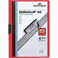 DURABLE klemmappen DURACLIP, A4, kunststof, met clip, rood
