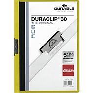 DURABLE Klemmmappe DURACLIP, DIN A4, Kunststoff, mit Clip, grün