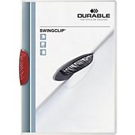 DURABLE Klemmmappe Swingclip, DIN A4, PP, mit Clip, rot