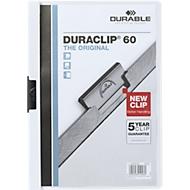 DURABLE Klemmmappen DURACLIP, DIN A4, Kunststoff, mit Clip, weiß