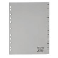 DURABLE kunststof tabbladen, A4, Dez-Jan, grijs