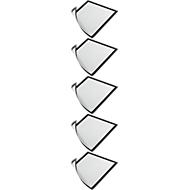 DURABLE magneetlijst DURAFRAME MAGNETIC, A4, zwart, 5 stuks