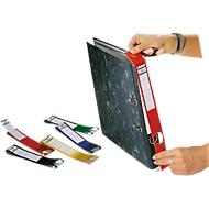 DURABLE Ordnerrückenschilder Ordofix, Rückenbreite 40 mm, selbstklebend, 10 Stück, rot