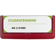 DURABLE panneaux pour porte CLICK SIGN, 149 x 52,5 mm, rouge, 5 pièces