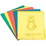 DURABLE Pochettes coin PP,  nervurées, couleurs assorties, 1 paquet de 100 pièces
