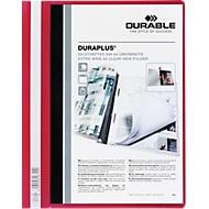 DURABLE Präsentations-Sichthefter DURAPLUS extrabreit, PVC-Hartfolie, 25 Stück, rot