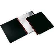 DURABLE presentatiemap Easy, voor A4-formaat, 20 zichtmappen, 2 stuks, zwart