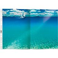DURABLE Prospekthüllen Spezial, DIN A3 gefalzt auf DIN A4, 50 Stück, genarbt, transparent