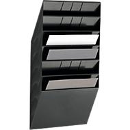 DURABLE Prospektspender Flexiboxx 6, 6 Spender, A4, quer, schwarz