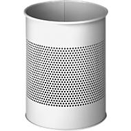 DURABLE Prullenbak, van geperforeerd staal, 14,7 liter, Ø 260 x H 315 mm, grijs