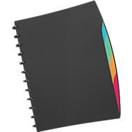 DURABLE ringmap Duralook®Style, voor A4-formaat, 20 zichtmappen, zwart