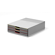 DURABLE Schubladenbox VARICOLOR, 3 Schübe, DIN C4