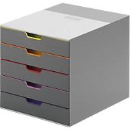 DURABLE Schubladenbox VARICOLOR, 5 Schübe, DIN C4