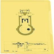 DURABLE Sichthülle Business, DIN A4, glatt, 50 Stück, gelb