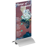 DURABLE tafelstandaard, Acrylhouder en aluminium voet, lang