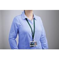 DURABLE textielkoord SOFT COLOUR met karabijnhaak, b 15 x l 440 mm, pak van 10 stuks, blauw