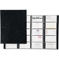 DURABLE Visitenkartenbuch, für 400 Visitenkarten, 20 Stück, schwarz