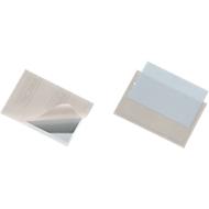 DURABLE Visitenkartenhüllen, für 100 Visitenkarten, selbstklebend, 100 Stück, 93x63
