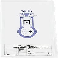 DURABLE zichtmap PP, A4, glashelder, 10 stuks