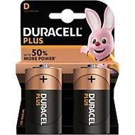 DURACELL® Batterie Plus, Mono D, 1,5 V, 2 Stück