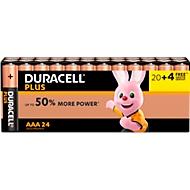 DURACELL® batterij Plus Power, micro AAA, 20 st. + gratis 4 st.
