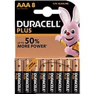DURACELL® Batterijen Plus, Micro AAA, 1,5 V, 8 stuks