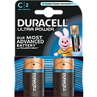 DURACELL® batterijen ULTRA, Baby C, 1,5 V, 2 stuks