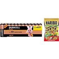 DURACELL® Pile Plus Power, Mignon AA, set de 20 piles + 4  gratuites