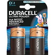 DURACELL® piles alcalines ULTRA POWER, type Mono D, 1,5 V, par paquet de 2